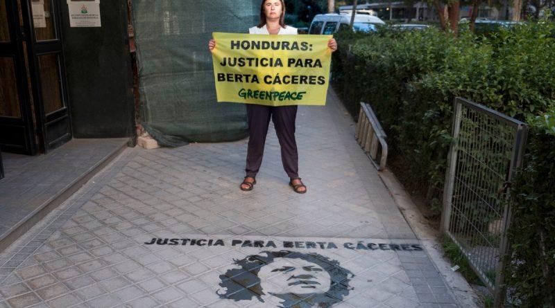 Justicia para Berta Cáceres reclama Greenpeace